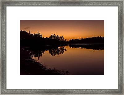Fall Sunset Lake Horicon Nj  Framed Print by Terry DeLuco