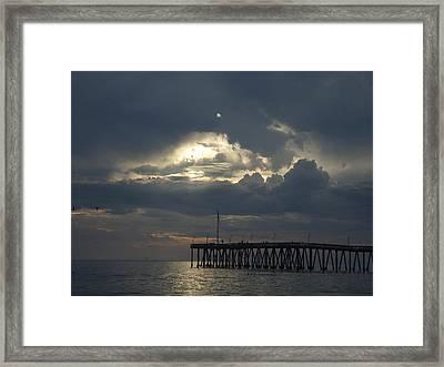 Fall Sunset Framed Print by Liz Vernand