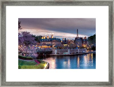Fall Sunset Of France Framed Print