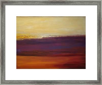 Fall Sunset Framed Print by Ora Birenbaum