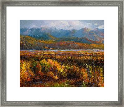 Framed Print featuring the painting Fall by Talya Johnson