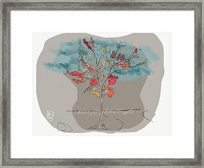 Fall To Peaces Framed Print