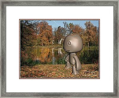 Autumn Leaves Tumble Framed Print