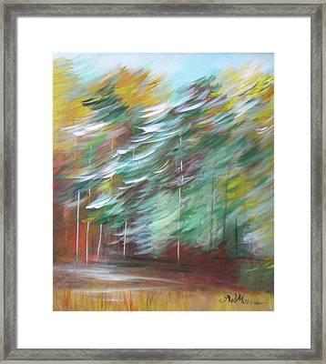 Fall Trees At The Ridge Framed Print