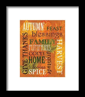 Thanksgiving Framed Prints