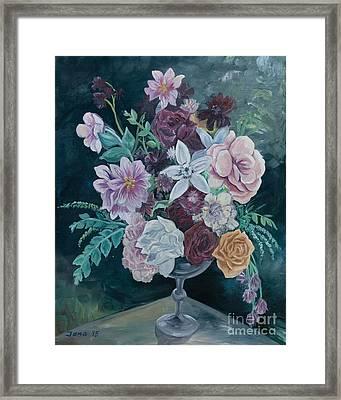 Fall Vase Framed Print by Jana Goode