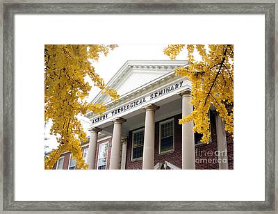 Fall View Of Asbury  Framed Print by Angie Bechanan
