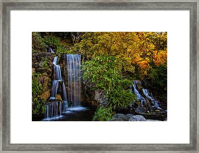 Framed Print featuring the photograph Fall Water Fall by Harry Spitz