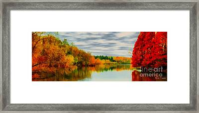 Fall Water Painterly Rendering Framed Print