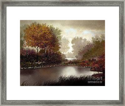 Fall Waters Framed Print by Robert Foster