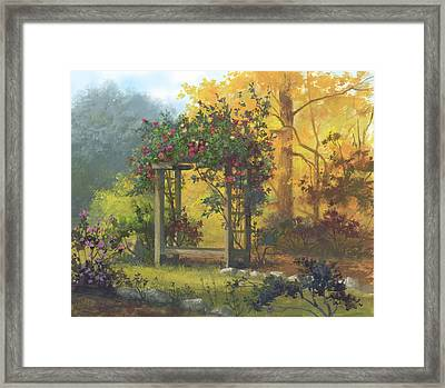 Fall Yellow Framed Print by Michael Humphries