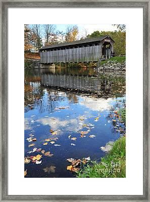 Fallasburg Covered Bridge 16 Framed Print