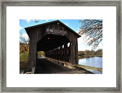 Fallasburg Covered Bridge 7 Framed Print