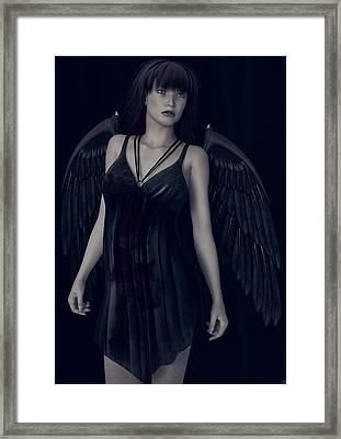 Fallen Angel - Dark And Gothic Framed Print