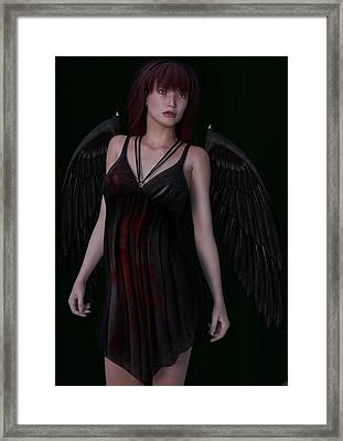 Fallen Angel Framed Print by Maynard Ellis