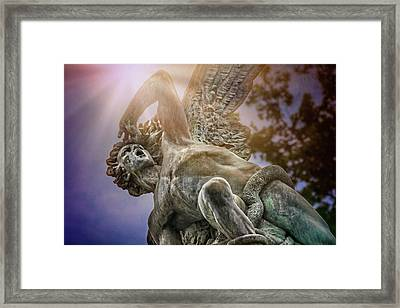 Fallen Angel Retiro Park Madrid  Framed Print