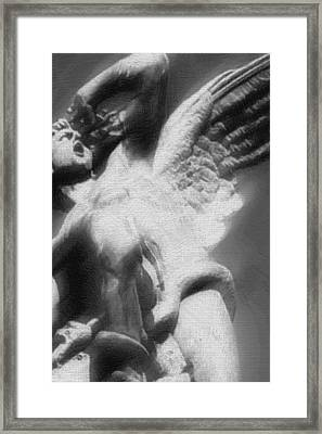 Fallen Angel Vertical Framed Print by Tony Rubino