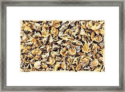 Fallen Autumn Leaves Framed Print