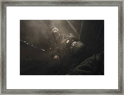 Fallen Comrade Framed Print by Mark H Roberts