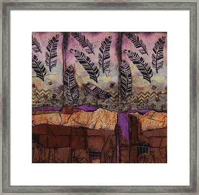 Fallen Feathers  Framed Print
