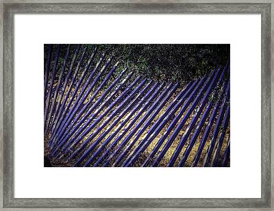 Fallen Fence Framed Print by Garry Gay