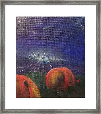 Fallen Fruit L Framed Print by Colleen Birch