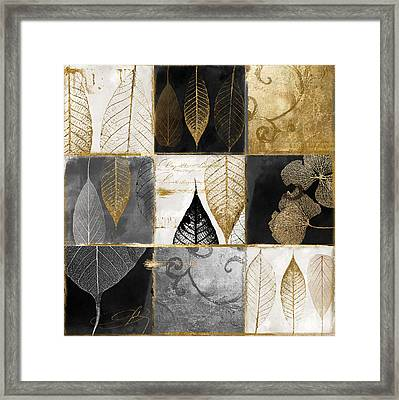 Fallen Gold Autumn Leaves Framed Print by Mindy Sommers