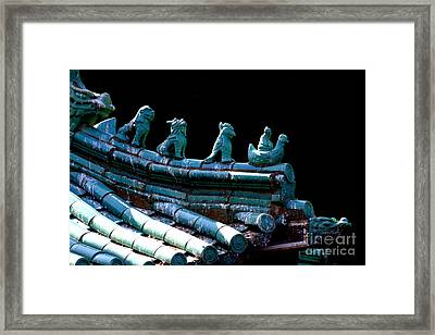 Fallen Guardians Of The Old Palace Framed Print by Wingsdomain Art and Photography
