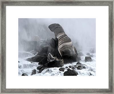 Fallen Ice Framed Print