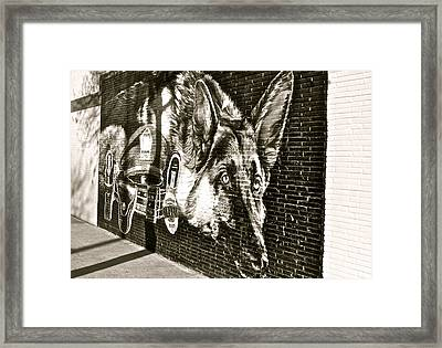 Fallen In The Line Of Duty Framed Print by E Robert Dee