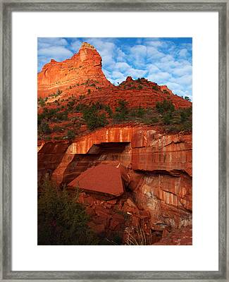 Framed Print featuring the photograph Fallen by James Peterson