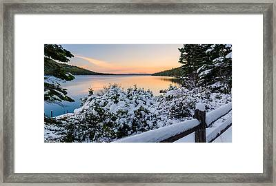 Fallen Leaf Lake Framed Print
