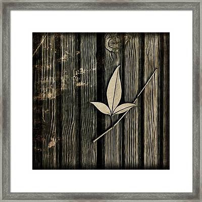 Fallen Leaf Framed Print by John Edwards