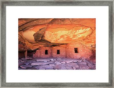 Fallen Roof Ruin. Framed Print by Johnny Adolphson