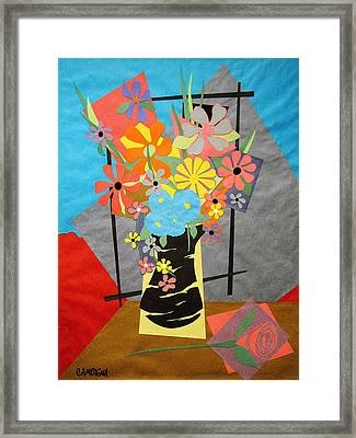Fallen Rose     Framed Print by Teddy Campagna