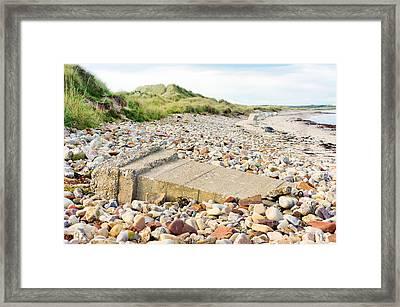 Fallen Sea Defence Framed Print by Tom Gowanlock