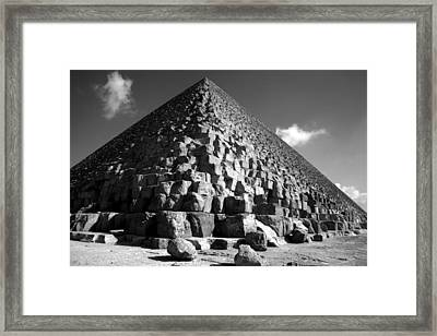 Fallen Stones At The Pyramid Framed Print