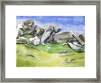 Fallen Stones Framed Print