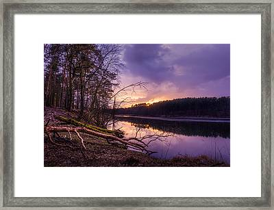 Fallen To The Setting Sun Framed Print
