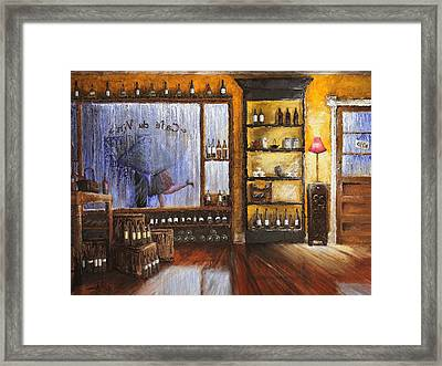 Fallin In Love At A Coffeeshop II Framed Print