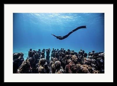 Angel Mermaids Ocean Photographs Framed Prints