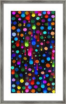 Falling Balls Of Color Framed Print by Carl Deaville