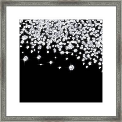 Falling Diamonds Framed Print