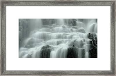 Falling Framed Print by Don Schwartz