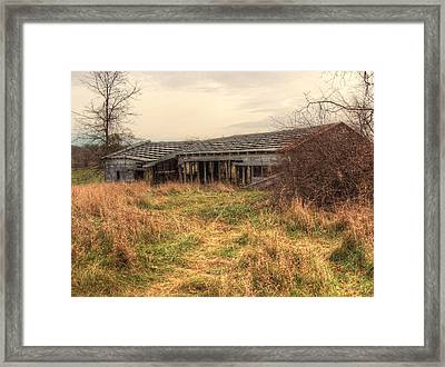 Falling Down Framed Print