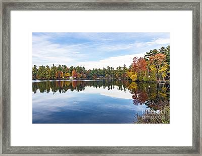 Framed Print featuring the photograph Falling For New Hampshire by Anthony Baatz