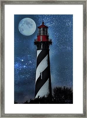 Falling For You St Augustine Lighthouse Framed Print by Betsy Knapp