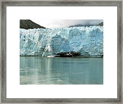 Falling Ice 8419 Framed Print by Michael Peychich