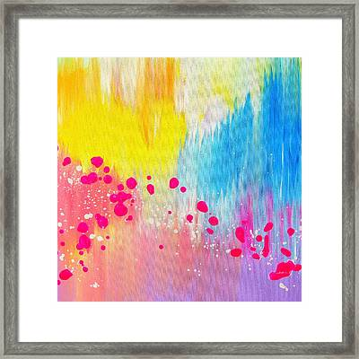 Falling In Love Framed Print by Cathy Jacobs