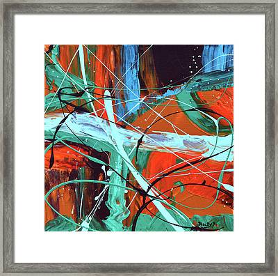 Falling Into Autumn Framed Print by Donna Blackhall